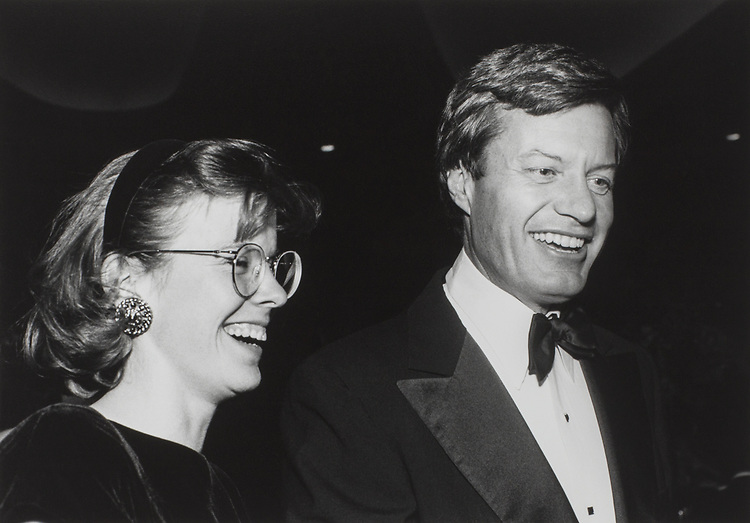 Sue Brodsky (worked for Baucus on his last campaign) and Sen. Max Baucus, D-Mont., at the Senate Democratic Dinner, on Sep. 27, 1989. (Photo by Laura Patterson/CQ Roll Call via Getty Images)