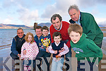 Residents in Rossbeigh are calling for works to be carried out to  Castlemaine Beacon or  'The tower' as it is known locally before it falls into the sea. .Back L-R Michael O'Sullivan, Fred McDonogh, Cllr Michael Cahill and Jim Healy..Front L-R Mia and Jack McDonogh, Brian Cahill and Dylan McDonogh.