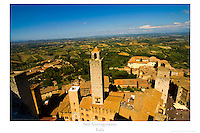 20x30 or 24x36 inch poster of San Gimigniano, a medieval town in Tuscany, Italy.