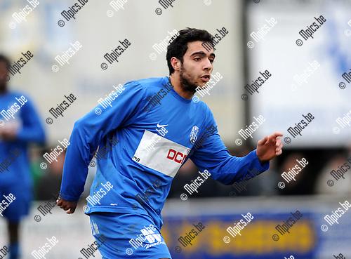 2011-02-06 / Voetbal / seizoen 2010-2011 / KFC Katelijne - RC Mechelen /  Nidal Benhamou..Foto: mpics