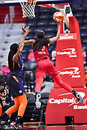 Washington, DC - June 3, 2018: Washington Mystics forward LaToya Sanders (30) goes up for a lay up during game between the Washington Mystics and Connecticut Sun at the Capital One Arena in Washington, DC. (Photo by Phil Peters/Media Images International)