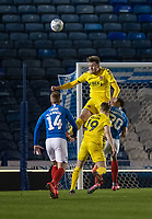 Fleetwood Town's Harry Souttar (centre)<br /> <br /> Photographer David Horton/CameraSport<br /> <br /> The EFL Sky Bet League One - Portsmouth v Fleetwood Town - Tuesday 10th March 2020 - Fratton Park - Portsmouth<br /> <br /> World Copyright © 2020 CameraSport. All rights reserved. 43 Linden Ave. Countesthorpe. Leicester. England. LE8 5PG - Tel: +44 (0) 116 277 4147 - admin@camerasport.com - www.camerasport.com