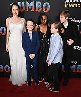 11 March 2019 - Hollywood, California - Angelina Jolie, Shiloh Jolie-Pitt, Zahara Marley Jolie-Pitt, Vivienne Marcheline Jolie-Pitt, Knox Jolie-Pitt. &quot;Dumbo&quot; Los Angeles Premiere held at Ray Dolby Ballroom. Photo <br /> CAP/ADM/BT<br /> &copy;BT/ADM/Capital Pictures