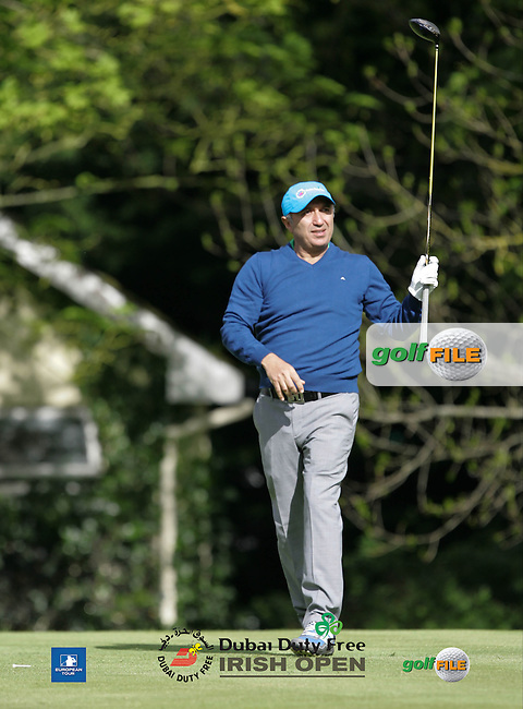 Tareke Farahat during Wednesday's Pro-Am ahead of the 2016 Dubai Duty Free Irish Open Hosted by The Rory Foundation which is played at the K Club Golf Resort, Straffan, Co. Kildare, Ireland. 18/05/2016. Picture Golffile | TJ Caffrey.<br /> <br /> All photo usage must display a mandatory copyright credit as: &copy; Golffile | TJ Caffrey.