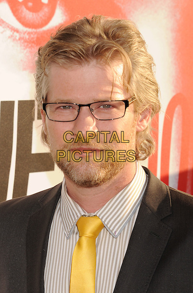 Todd Lowe.'True Blood' Season 5 Los Angeles Premiere at ArcLight Cinemas Cinerama Dome, Hollywood, California, USA..May 30th, 2012.headshot portrait black yellow tie glasses beard facial hair .CAP/ROT/TM.© TM/Roth/Capital Pictures