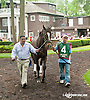 Broomsage before The Delaware Oaks (gr 2) at Delaware Park on 7/13/13