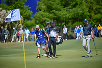Bubba Watson (USA) and Matt Kuchar (USA) approach the green on 17 during Round 2 of the Zurich Classic of New Orl, TPC Louisiana, Avondale, Louisiana, USA. 4/27/2018.<br /> Picture: Golffile | Ken Murray<br /> <br /> <br /> All photo usage must carry mandatory copyright credit (&copy; Golffile | Ken Murray)