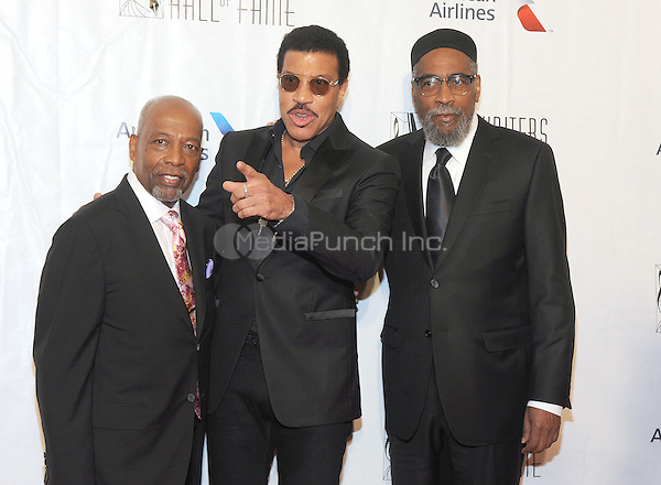 NEW YORK, NY - JUNE 09:  Leon Huff, Lionel Richie and Kenny Gamble attends the 47th Annual Songwriters Hall Of Fame Induction And Awards Gala at The New York Marriott Marquis on June 9, 2016 in New York City.  Photo Credit:John Palmer/ Media Punch