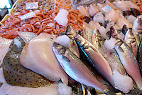 Fresh Sea Food & Fish, Sole, Prawns, Bass - Chioggia - Venice Italy