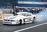 Jun. 1, 2012; Englishtown, NJ, USA: NHRA pro mod driver Mike Janis during qualifying for the Supernationals at Raceway Park. Mandatory Credit: Mark J. Rebilas-