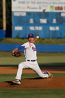 Whiteville High School Wolfpack pitcher MacKenzie Gore (1) on the pitcher's mound during a game against the Rosewood High School Eagles at Legion Stadium on May 26, 2017 in Whiteville, North Carolina. Whiteville defeated Rosewood 5-0 to win the eastern 1-A baseball championship and advance to the state finals. (Robert Gurganus/Four Seam Images)