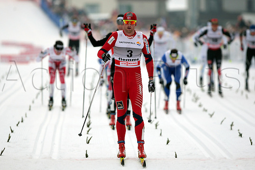 08.01.2011.  TOUR DE SKI - STAGE 7. Petter NORTHUG during the 20 km classic mass start in Val Di Fiemme, Italy.