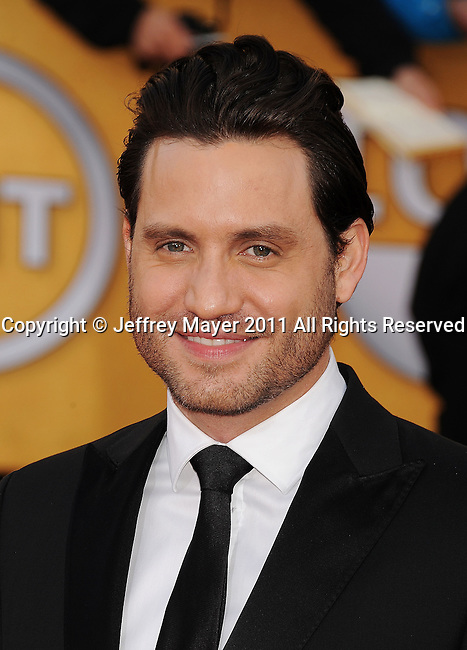 LOS ANGELES, CA - January 30: Edgar Ramirez arrives at the 17th Annual Screen Actors Guild Awards held at The Shrine Auditorium on January 30, 2011 in Los Angeles, California.
