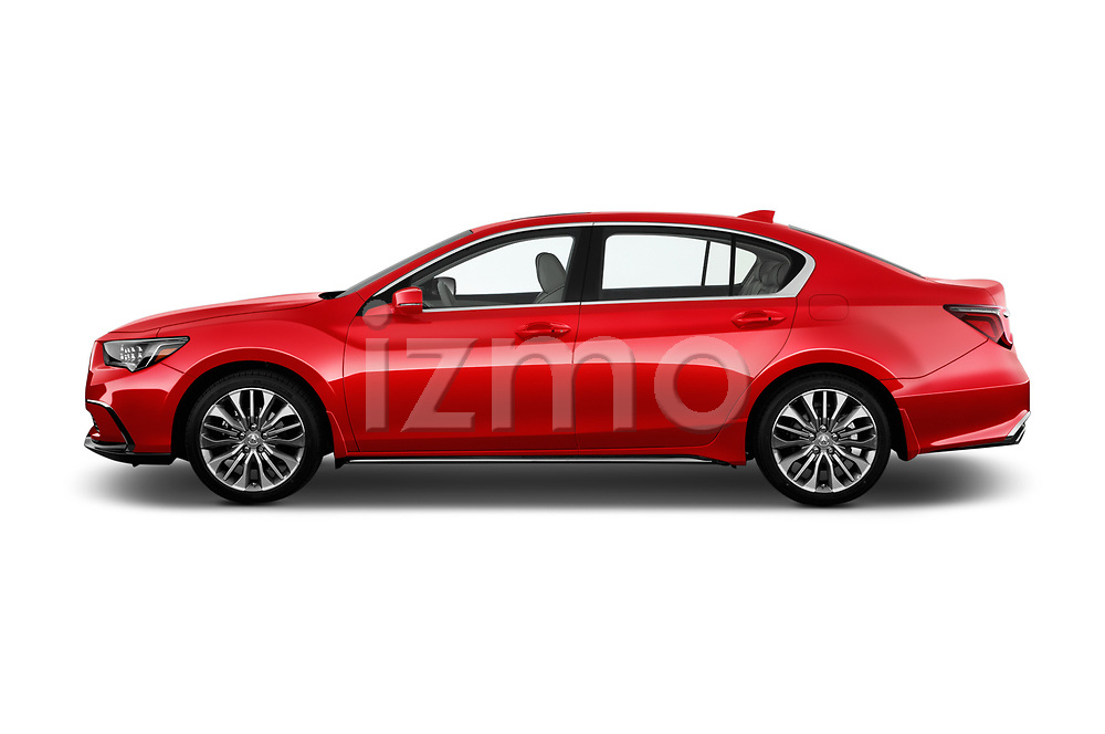 Car Driver side profile view of a 2018 Acura RLX - 4 Door Sedan Side View