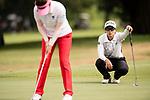 Golfer Sock Hwee Koh of Singapore (R) during the 2017 Hong Kong Ladies Open on June 10, 2017 in Hong Kong, China. Photo by Marcio Rodrigo Machado / Power Sport Images