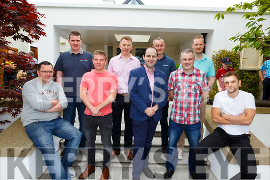 Enjoying the sun and fun at the Dairymaster 50th Anniversary BBQ in the Ballygarry Hotel on Sunday.<br />  Front l-r, Christopher O'Donovan (Software Engineer), Dr. Shane Byrnes (Design Engineer), Prof. Edmund Harty, Liam Mullane (Senior Software Engineer) and Alen Lovric (Software Engineer).<br /> Back l-r, Denis Murphy (Software Engineer), Dr. John Daly, Steven Long (Electronics), Michael Ryan (Software Support Engineer) and Maurice Carroll.