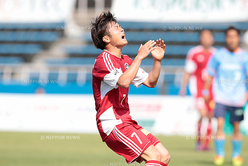 Tasuku Hiraoka (U-22 J.League), <br /> APRIL 29, 2015 - Football /Soccer : <br /> 2015 J3 League match <br /> between Y.S.C.C.Yokohama 0-0 U-22 J.League selection <br /> at NHK Spring Mitsuzawa Football Stadium, Kanagawa, Japan. <br /> (Photo by AFLO SPORT)
