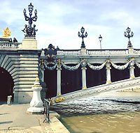 Pont Alexandre III in Paris, France on March 11, 2017.