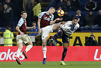 Burnley's Ben Mee vies for possession with Everton's Dominic Calvert-Lewin<br /> <br /> Photographer Rich Linley/CameraSport<br /> <br /> The Premier League - Burnley v Everton - Wednesday 26th December 2018 - Turf Moor - Burnley<br /> <br /> World Copyright &copy; 2018 CameraSport. All rights reserved. 43 Linden Ave. Countesthorpe. Leicester. England. LE8 5PG - Tel: +44 (0) 116 277 4147 - admin@camerasport.com - www.camerasport.com