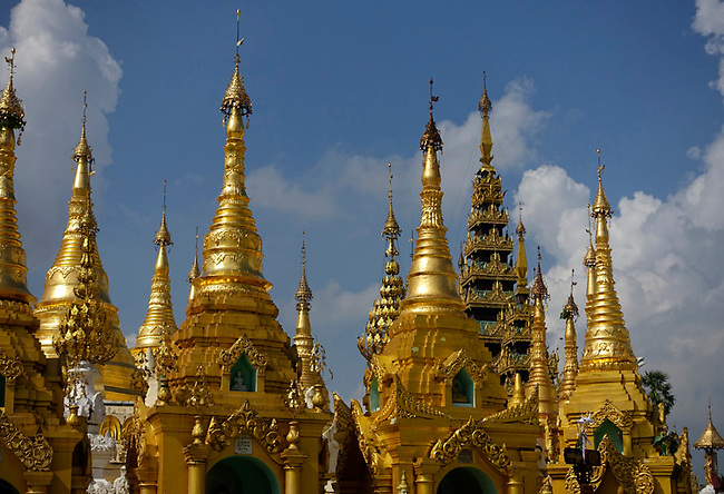 Spires at Shwedagon Pagoda
