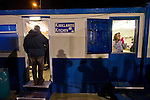 Cammell Laird 1 Witton Albion 2, 12/12/2008. Kirklands, Unibond League premier division. Spectators queueing in the refreshment hut at half-time as Cammell Laird take on Witton Albion in a Unibond League premier division game at Kirklands, Birkenhead. The visitors won by 2 goals to 1 on front of a crowd of just 136. Formed in 1907, Lairds joined the English pyramid in 2004 and gained three promotions in five years, but financial problems forced the club to revert to amateur status in December 2008. Photo by Colin McPherson
