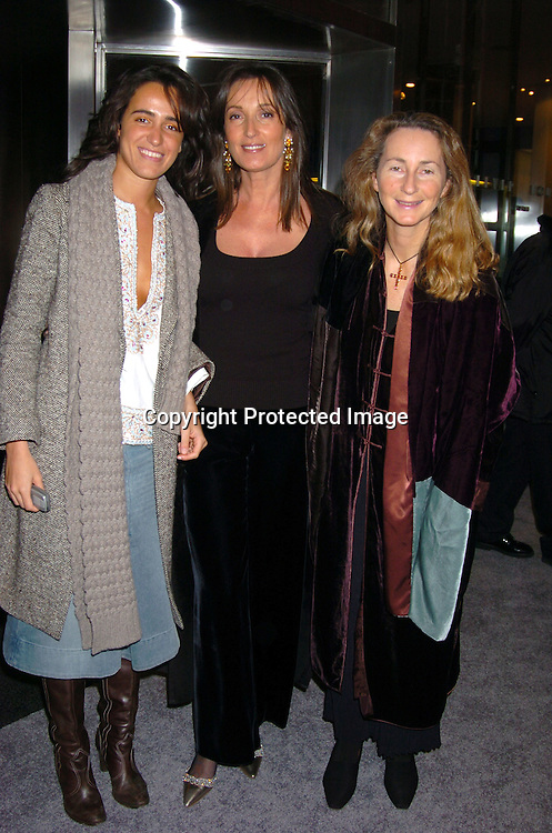 Coco Brandolini, Isabel and Priscilla Rattazzi ..at the party for the Start of the 50th anniversary of Ferrari in the United States on December 2,2003 at the Lever House. Photo by Robin Platzer, Twin Images