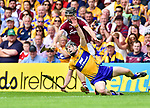 Tony Kelly of Clare in action against Aidan Harte of Galway during their All-Ireland semi-final replay at Semple Stadium,Thurles. Photograph by John Kelly.