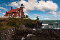 Eagle Harbor Lighouse is on the Keweenaw Peninsula in the upper peninsula of Michigan.