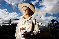 A young Jackaroo (Cowboys apprentice) is pictured at the National schools rodeo final in Dubbo, New South Wales..Rodeo is an integral part of rural Australian lifestyle and competitors travel great distances to compete on the circuit. Rodeo consists of many events ? ladies barrel race, saddle bronc riding, bull riding, bareback bronc riding, rope and tie, steer wrestling, team roping and the steer ride. .