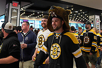 June 12, 2019: A Bruins fan walks the concourse wearing a bear head during game 7 of the NHL Stanley Cup Finals between the St Louis Blues and the Boston Bruins held at TD Garden, in Boston, Mass. Eric Canha/CSM