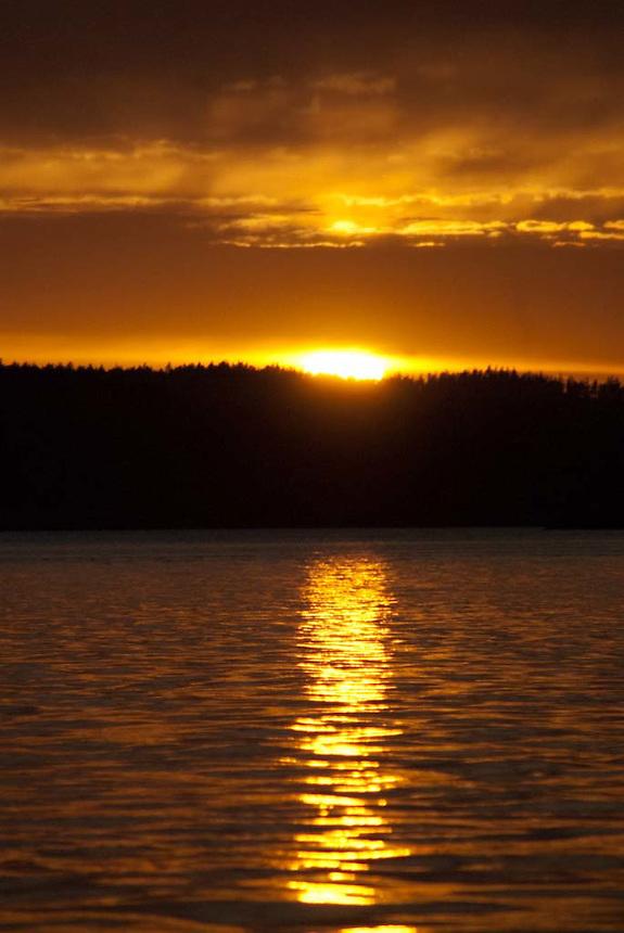 Sunset, Orcas Island, San Juan Islands, Washington, US