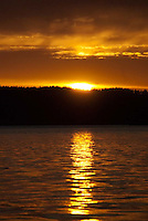 Sunset, Orcas Island, San Juan Islands, Washington, US