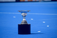 World cup trophy out on display<br /> <br /> Photographer Hannah Fountain/CameraSport<br /> <br /> Vitality Hockey Women's World Cup - Ireland v Spain - Saturday 4th August 2018 - Lee Valley Hockey and Tennis Centre - Stratford<br /> <br /> World Copyright &copy; 2018 CameraSport. All rights reserved. 43 Linden Ave. Countesthorpe. Leicester. England. LE8 5PG - Tel: +44 (0) 116 277 4147 - admin@camerasport.com - www.camerasport.com