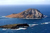 Aerial view of Rabbit Island, Windward Oahu