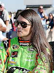 Sprint Cup Series driver Danica Patrick (10) is waiting for driver introductions before the Nascar Sprint Cup Series AAA Texas 500 race at Texas Motor Speedway in Fort Worth,Texas. Sprint Cup Series driver Jimmie Johnson (48) wins the AAA Texas 500 race.