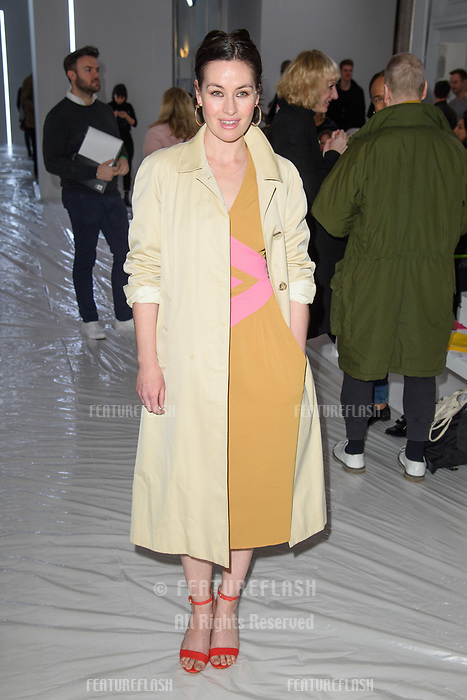 Maimie McCoy at the Jasper Conran show as part of London Fashion Week, London, UK. <br /> 17 February  2018<br /> Picture: Steve Vas/Featureflash/SilverHub 0208 004 5359 sales@silverhubmedia.com