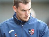 Exeter City's Manager Matt Taylor<br /> <br /> Photographer Kevin Barnes/CameraSport<br /> <br /> Emirates FA Cup First Round - Exeter City v Blackpool - Saturday 10th November 2018 - St James Park - Exeter<br />  <br /> World Copyright © 2018 CameraSport. All rights reserved. 43 Linden Ave. Countesthorpe. Leicester. England. LE8 5PG - Tel: +44 (0) 116 277 4147 - admin@camerasport.com - www.camerasport.com