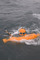 Delta submersible returns from a dive - Cordell Bank National Marine Sanctuary