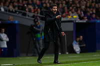 Diego Pablo Cholo Simeone of Atletico de Madrid during the match between Atletico de Madrid and Borussia Dortmund of UEFA Champions League 2018-2019, group A, date 4 played at the Wanda Metropolitano Stadium. Madrid, Spain, 6 NOV 2018.