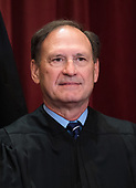 Associate Justice of the Supreme Court Samuel A. Alito, Jr. poses during the official Supreme Court group portrait at the Supreme Court on November 30, 2018 in Washington, D.C. <br /> Credit: Kevin Dietsch / Pool via CNP