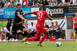20.07.2019, Heinz Detmar Stadion, Lohne, Interwetten Cup 1. FC Köln vs SV Werder Bremen<br /> <br /> im Bild / picture shows <br /> <br /> Foul von Marco Friedl (Werder Bremen #32) an Anthony Modeste (Koeln #27)   <br /> <br /> gelbe Karte FRIEDL<br /> Foto © nordphoto / Kokenge