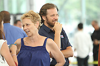 July 31,  2012 Director Naomi Foner and Peter Sarsgaard on location for Very Good Girls at the NY Waterway in New York City. &copy; RW/MediaPunch Inc. /NORTEPHOTO*COM*<br />