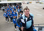 FK Trakai v St Johnstone&hellip;05.07.17&hellip; Europa League 1st Qualifying Round 2nd Leg<br />St Johnstone Manager Tommy Wright boards the aircraft for the flight to Vilnius in Lithuania<br />Picture by Graeme Hart.<br />Copyright Perthshire Picture Agency<br />Tel: 01738 623350  Mobile: 07990 594431