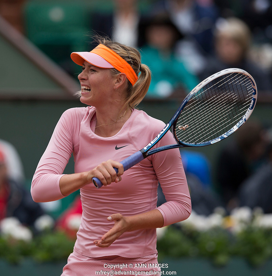 MARIA SHARAPOVA (RUS)<br /> <br /> Tennis - French Open 2014 -  Toland Garros - Paris -  ATP-WTA - ITF - 2014  - France -  26 May 2014. <br /> <br /> &copy; AMN IMAGES
