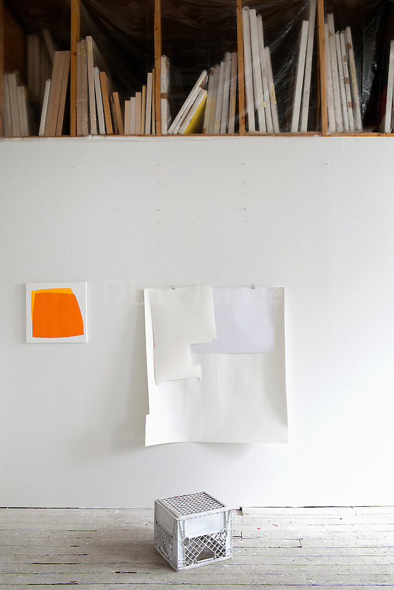 white wall hanging