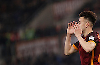 Calcio, Serie A: Roma vs Inter. Roma, stadio Olimpico, 19 marzo 2016.<br /> Roma's Stephan El Shaarawy reacts during the Italian Serie A football match between Roma and FC Inter at Rome's Olympic stadium, 19 March 2016. The game ended 1-1.<br /> UPDATE IMAGES PRESS/Isabella Bonotto