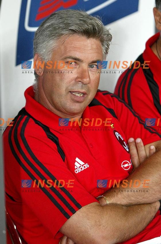 Milano 27/7/2004 Trofeo Tim - Tim tournament <br /> <br /> <br /> <br /> Carlo Ancelotti Milan trainer<br /> <br /> Carlo Ancelotti Allenatore del Milan<br /> <br /> <br /> <br /> Inter Milan Juventus <br /> <br /> Inter - Juventus 1-0<br /> <br /> Milan - Juventus 2-0<br /> <br /> Inter - Milan 5-4 d.cr - penalt.<br /> <br /> <br /> <br /> Photo Andrea Staccioli Insidefoto