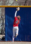 March 23, 2012:   Fresno State Bulldogs center fielder Brenna Moss goes back on a long fly ball against the Nevada Wolf Pack during their NCAA softball game played at Christina M. Hixson Softball Park on Friday in Reno, Nevada.