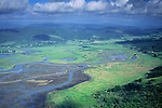 Aerial over the southern tip of Humboldt Bay, near Ferndale, Humboldt County, CALIFORNIA