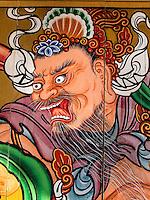 Wandbild, buddhistischer Tempel Naksan Sa bei Sokcho, Provinz Gangwon, Südkorea, Asien<br /> mural in  buddhistic temple Naksan sa near Sokcho, province Gangwon, South Korea, Asia